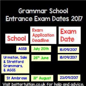entrance exam dates