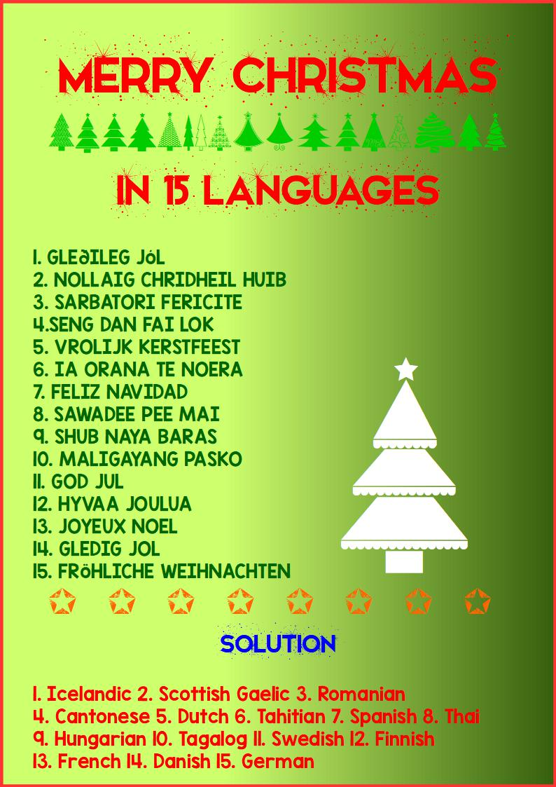 merry christmas in 15 languages
